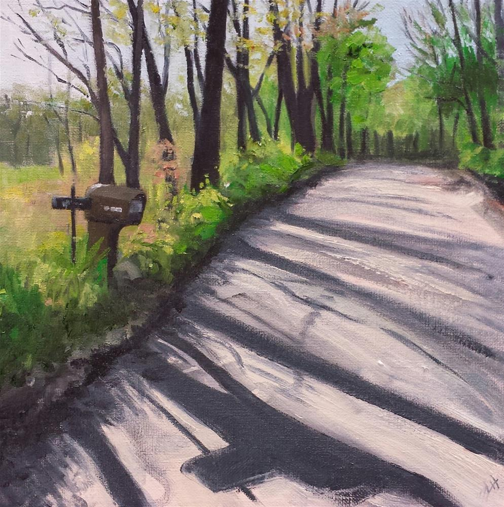 """Hensell in the AM"" original fine art by Judith Fletcher"