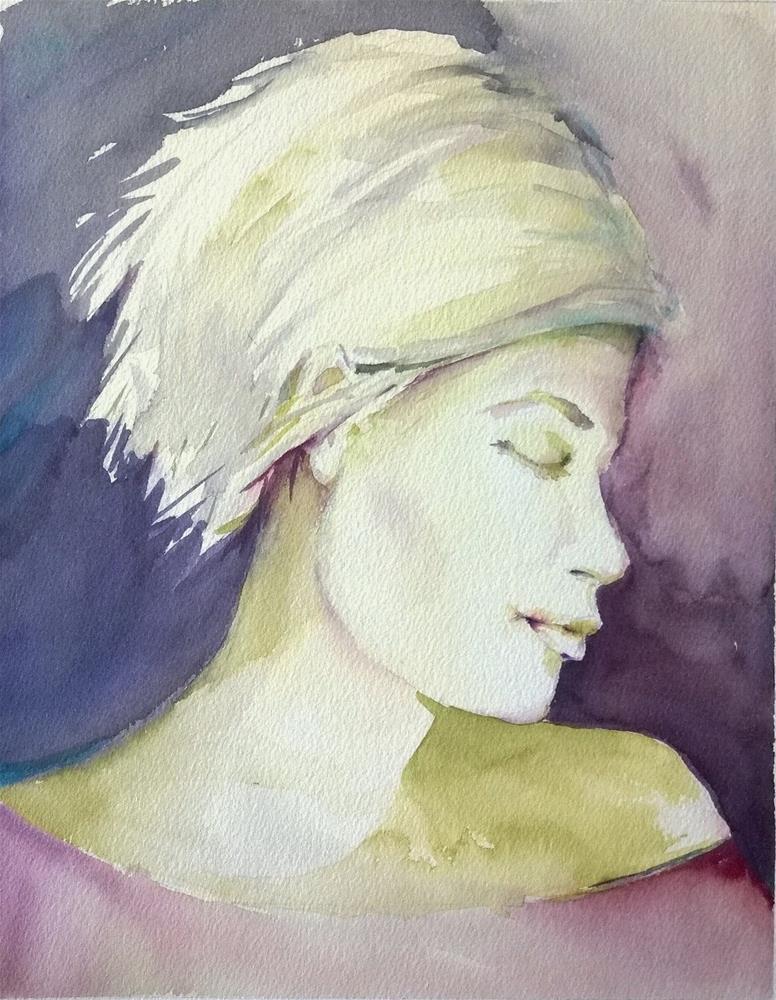 """The Blues"" original fine art by Crisynda Buss"