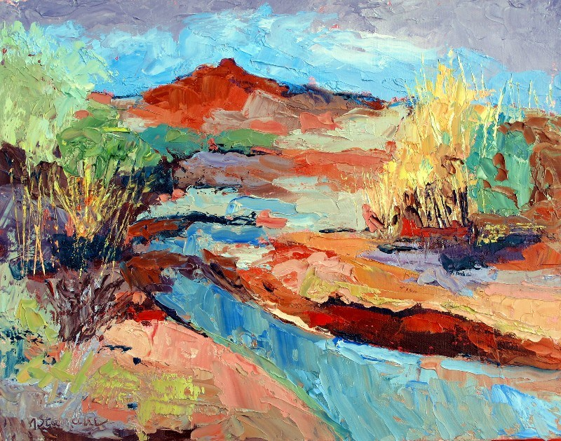 """Texas Landscape, 12100"" original fine art by Nancy Standlee"
