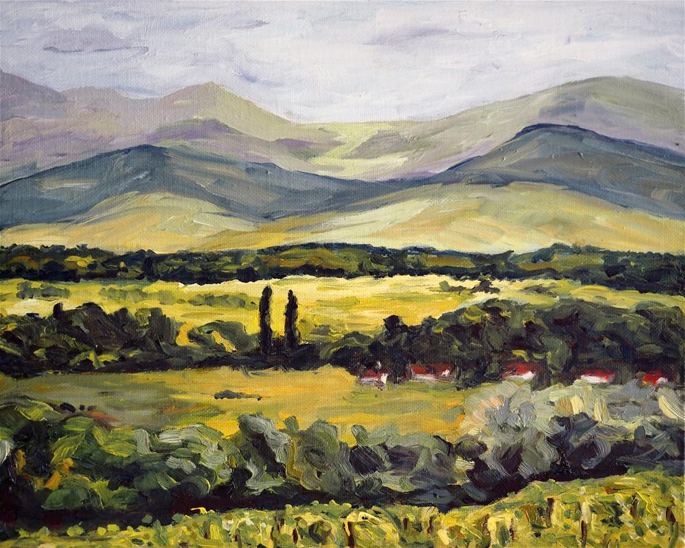"""View to Blackforest"" original fine art by Eva Grünwald"