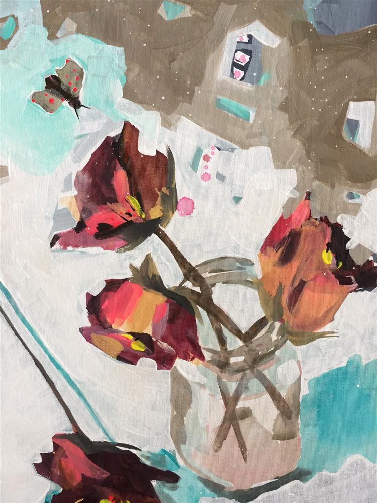 """""""222 Teaching Flowers"""" original fine art by Jenny Doh"""