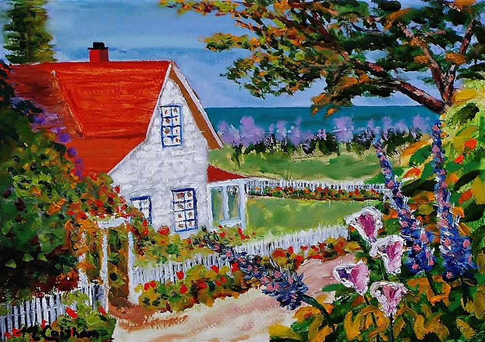 """House On The Coast"" original fine art by Mike Caitham"