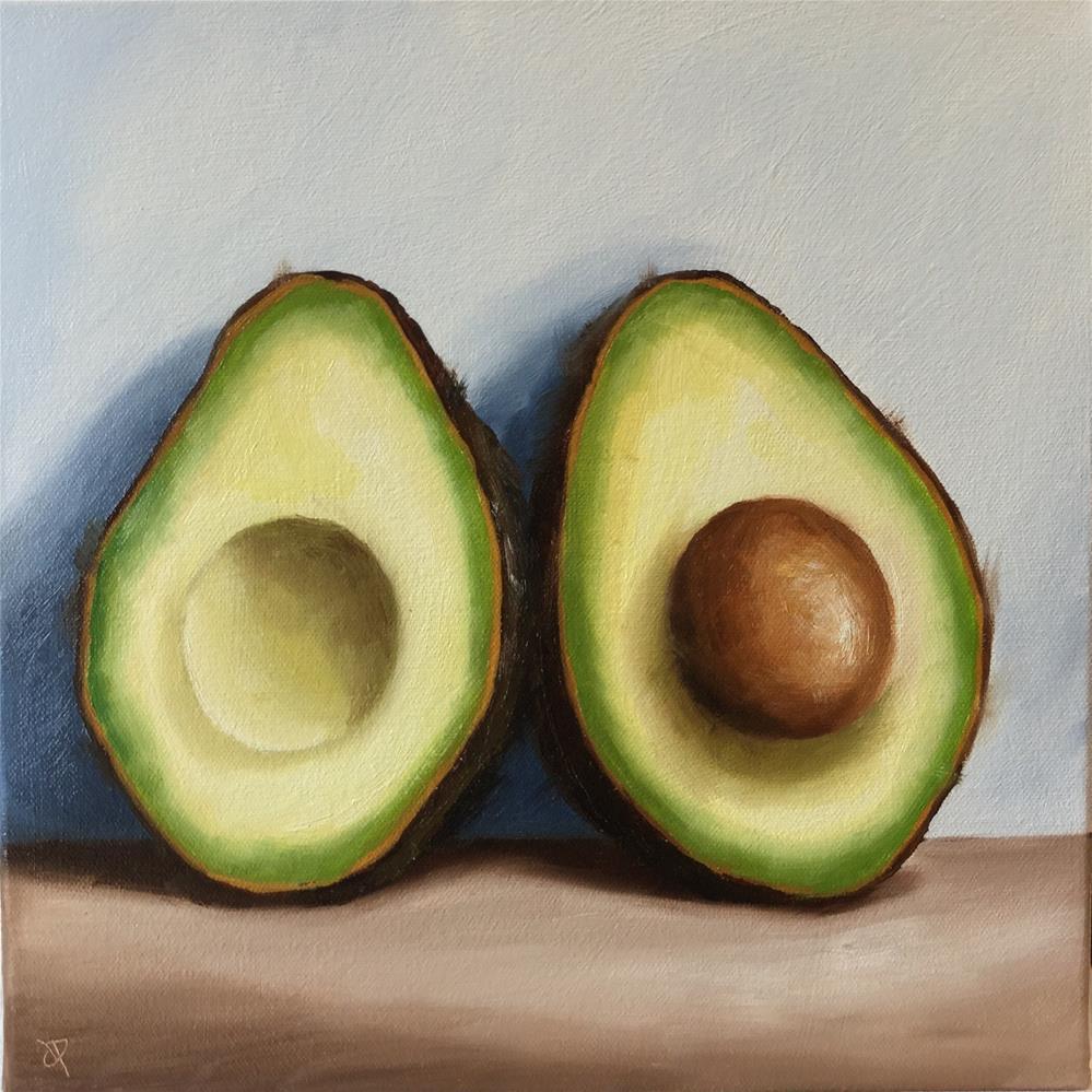 """Large Avocado halves"" original fine art by Jane Palmer"