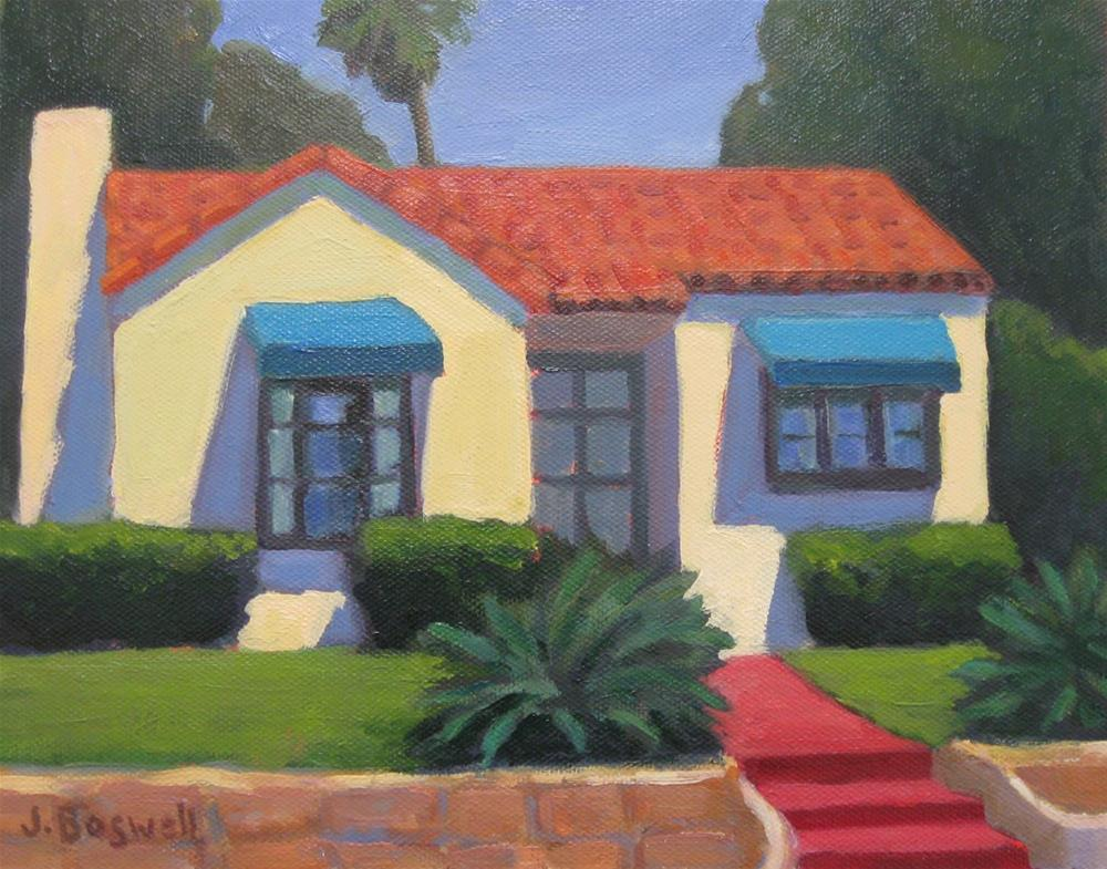 """House on Cota"" original fine art by Jennifer Boswell"