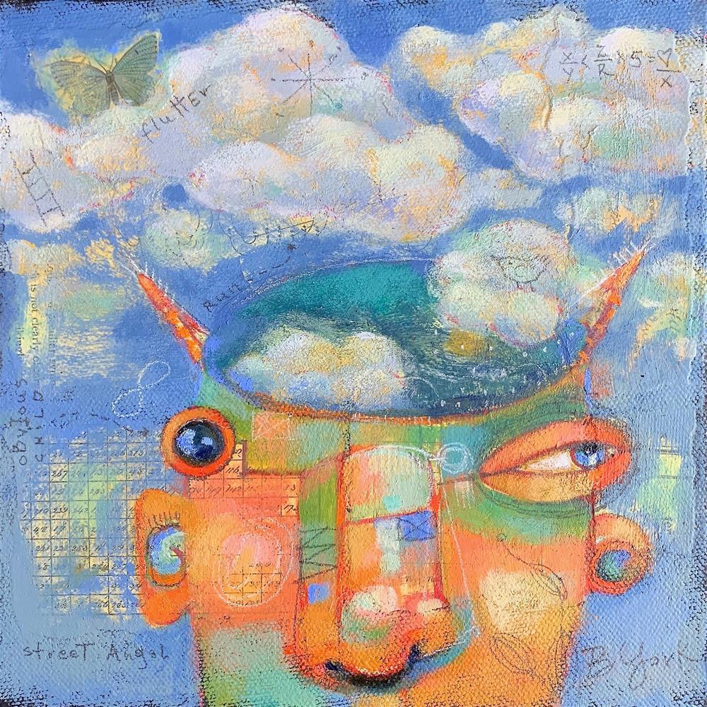 """Poor Donny, Patron Saint Of Toxic Brain Farts..."" original fine art by Brenda York"