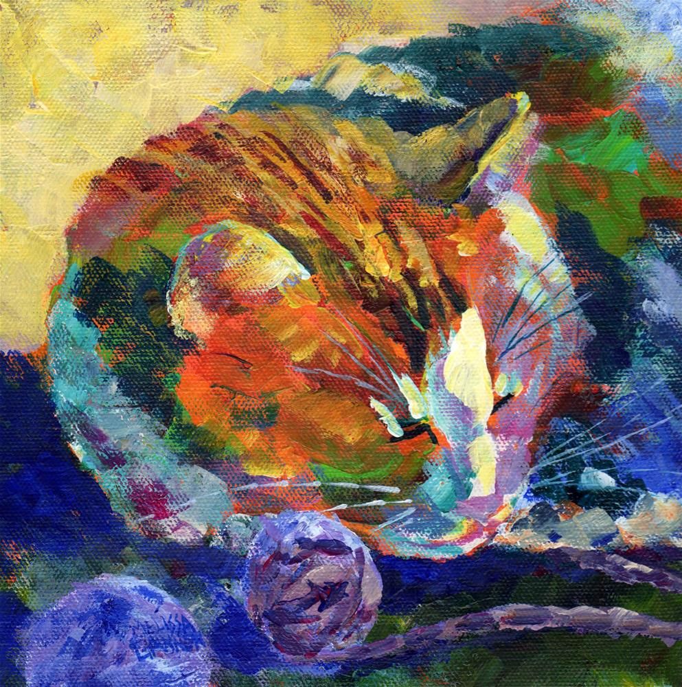 """""""All Tuckered Out"""" original fine art by Melissa Gannon"""