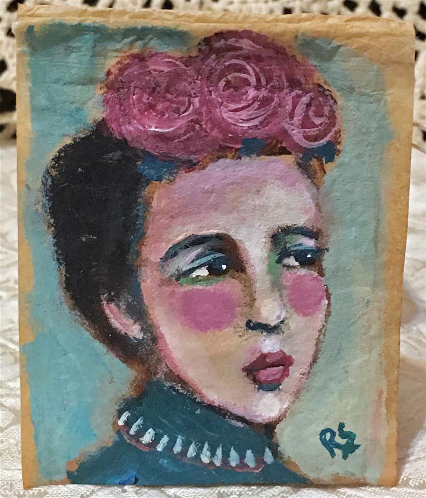 """""""Roses in her Hair"""" original fine art by Roberta Schmidt ArtcyLucy"""