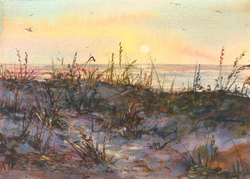 """Walk with me"" original fine art by Linda Henry"