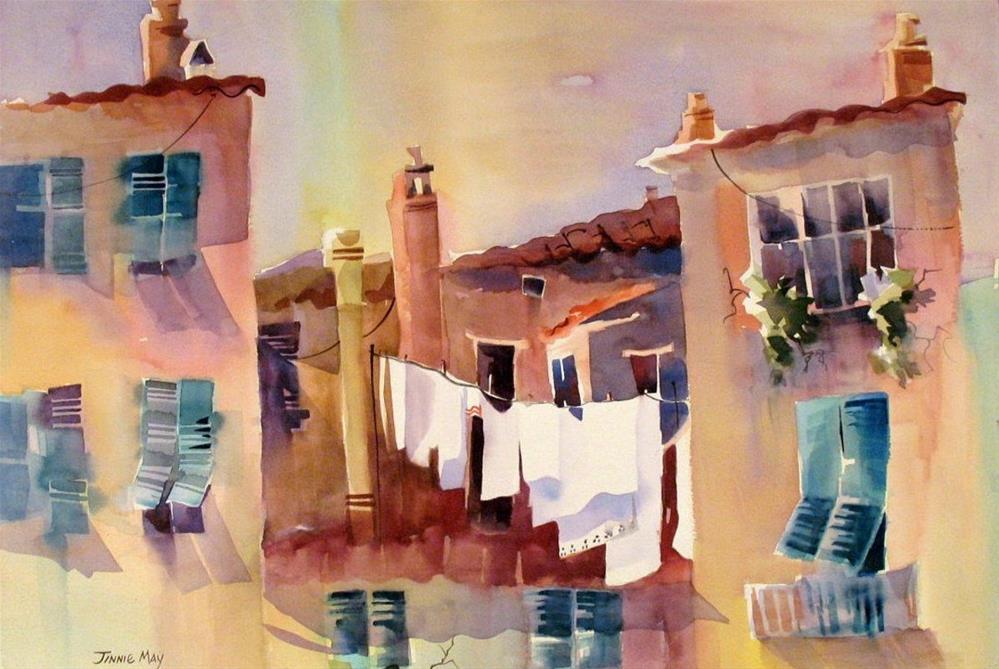 """Watercolor Wash"" original fine art by Jinnie May"