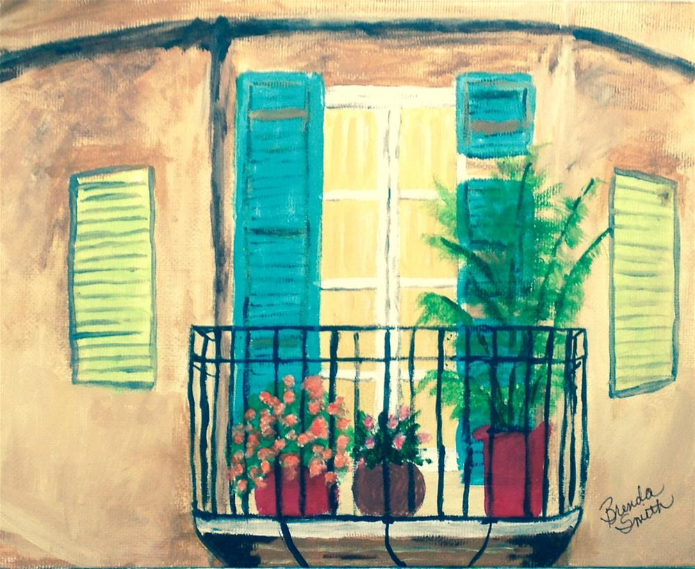 """The Old Balcony"" original fine art by Brenda Smith"