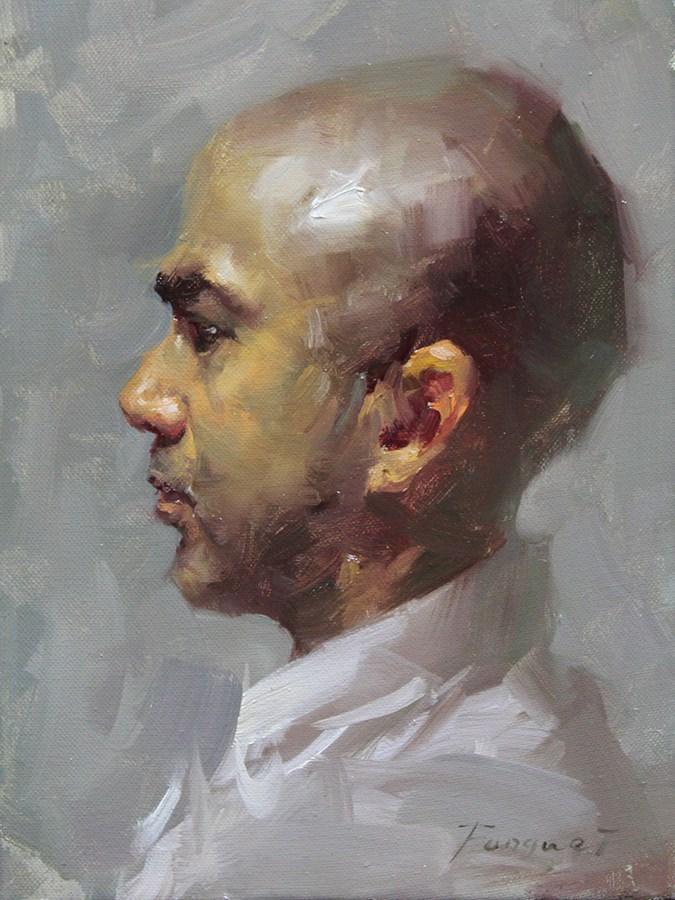 """Head Study - 2013 - 07"" original fine art by Fongwei Liu"
