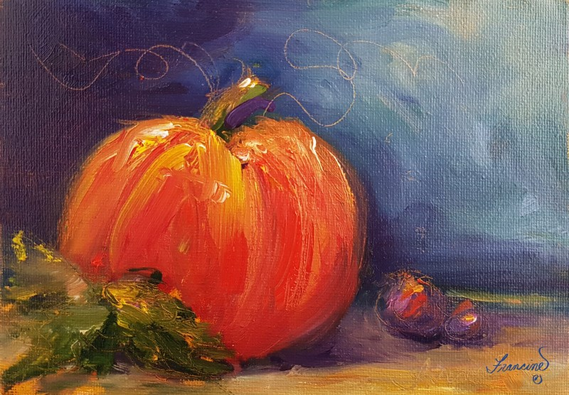 """Harvest 2"" original fine art by Francine Dufour~Jones"