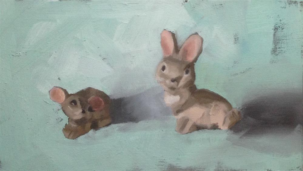"""""""The Adoration of the Mousie"""" original fine art by Philla Barkhorn"""