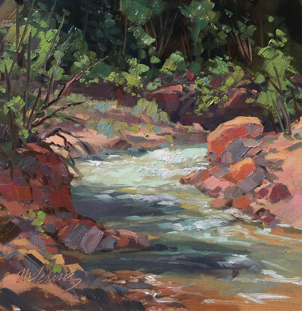 """Coal Creek Runoff"" original fine art by Mary Jabens"