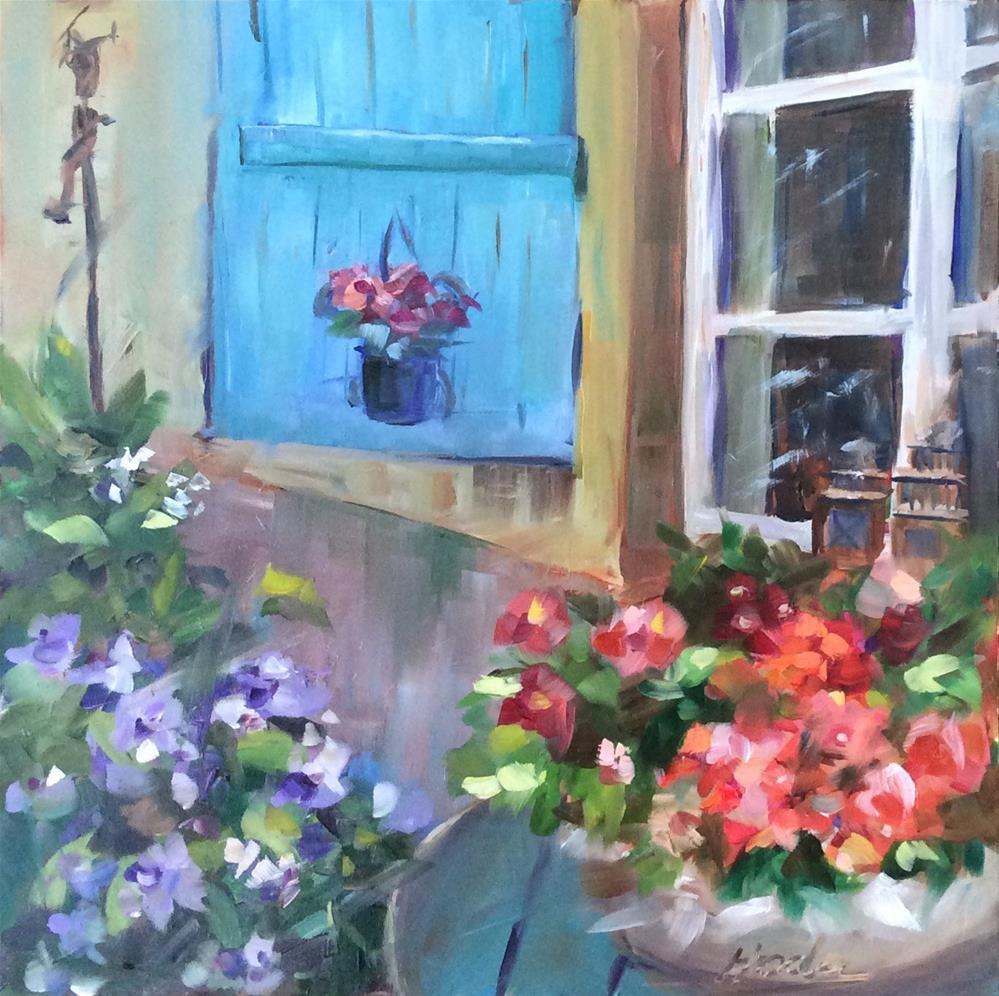 """A piece of France"" original fine art by Hoda Nicholas"