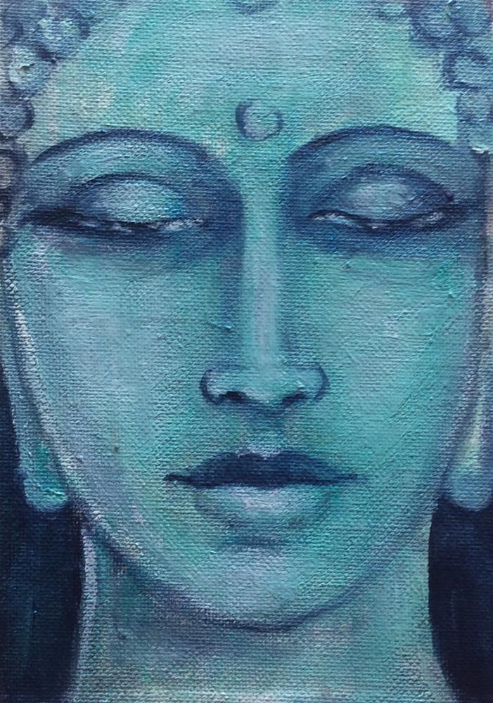 """""""Buddha no 7"""" original fine art by Sonia von Walter"""