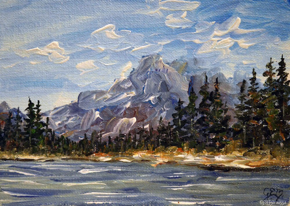 """SALE!!! Cascade Mountain Views"" original fine art by Gloria Ester"