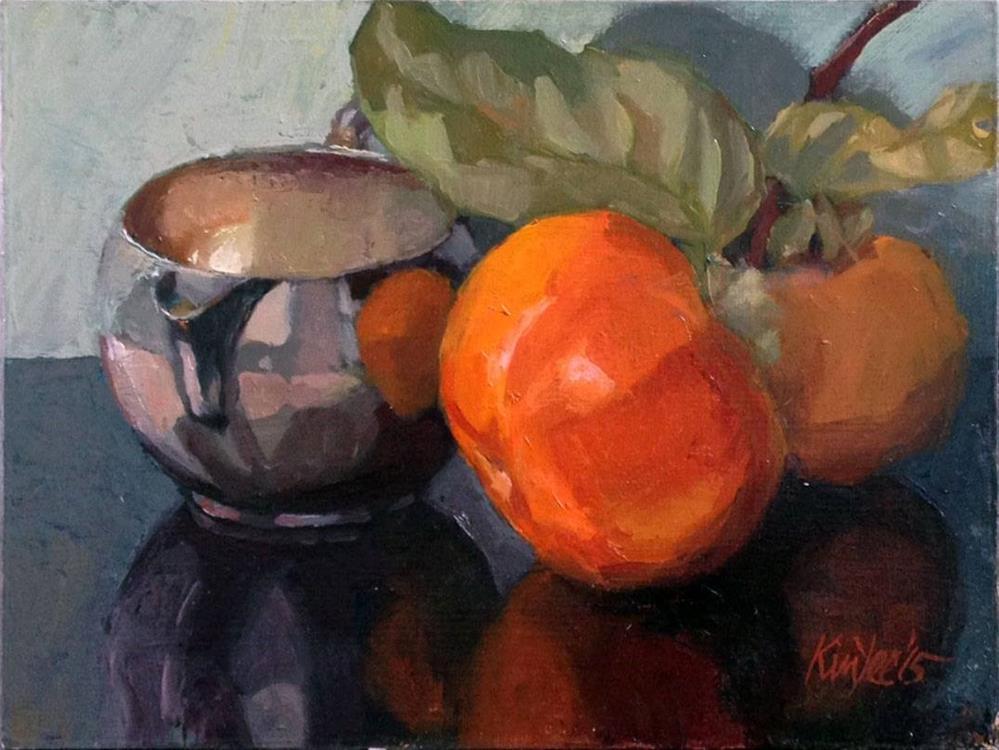 """Persimons on Reflection"" original fine art by Myriam Kin-Yee"