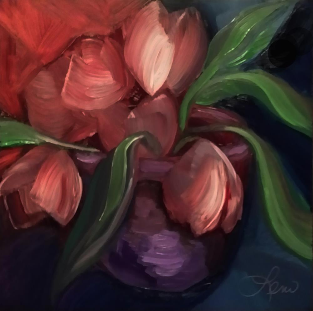 """Mystic Flowers"" original fine art by Leni Tarleton"