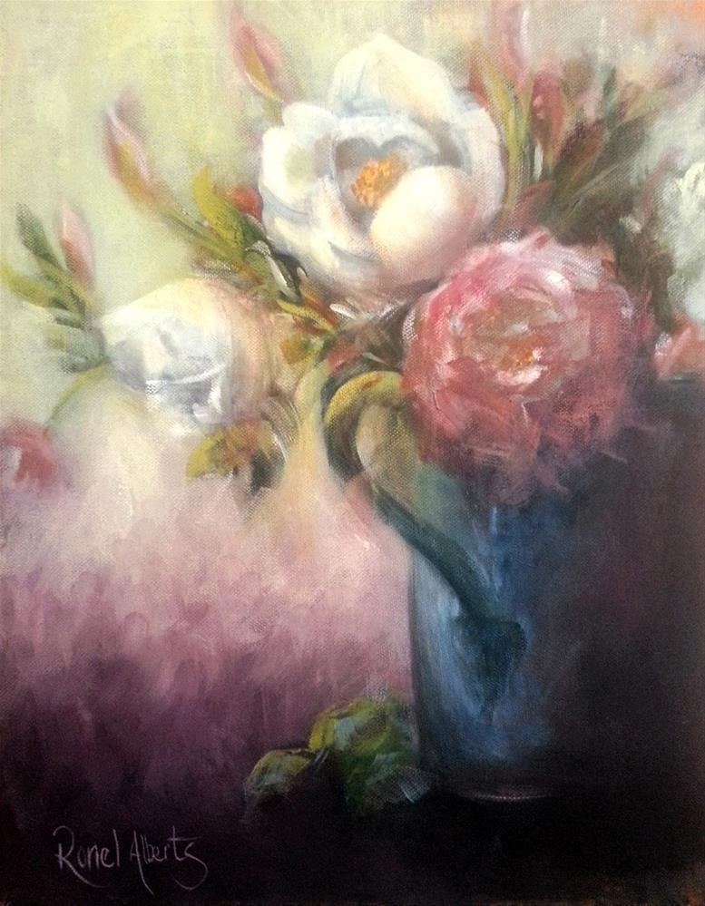 """""""antique roses"""" original fine art by Ronel Alberts"""