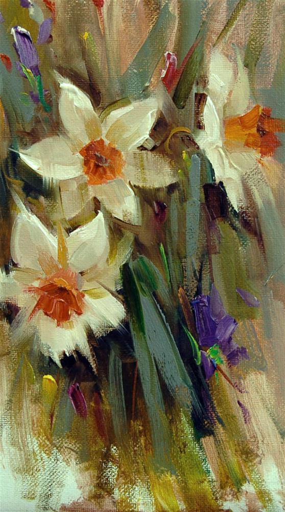 """""""Daffodils """" original fine art by Mostafa Keyhani"""