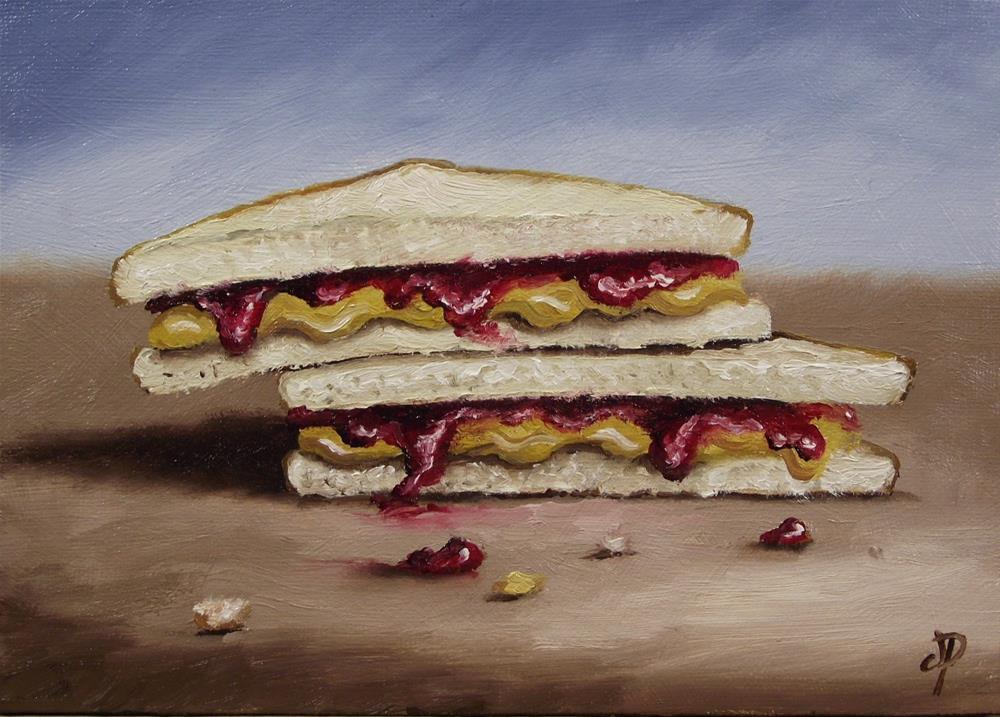 """PB&J #4"" original fine art by Jane Palmer"