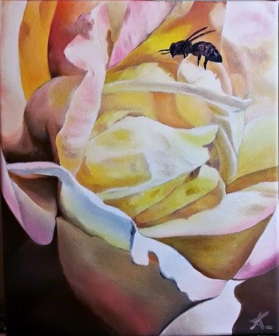 """The big yellow"" original fine art by Konstantia Karletsa"
