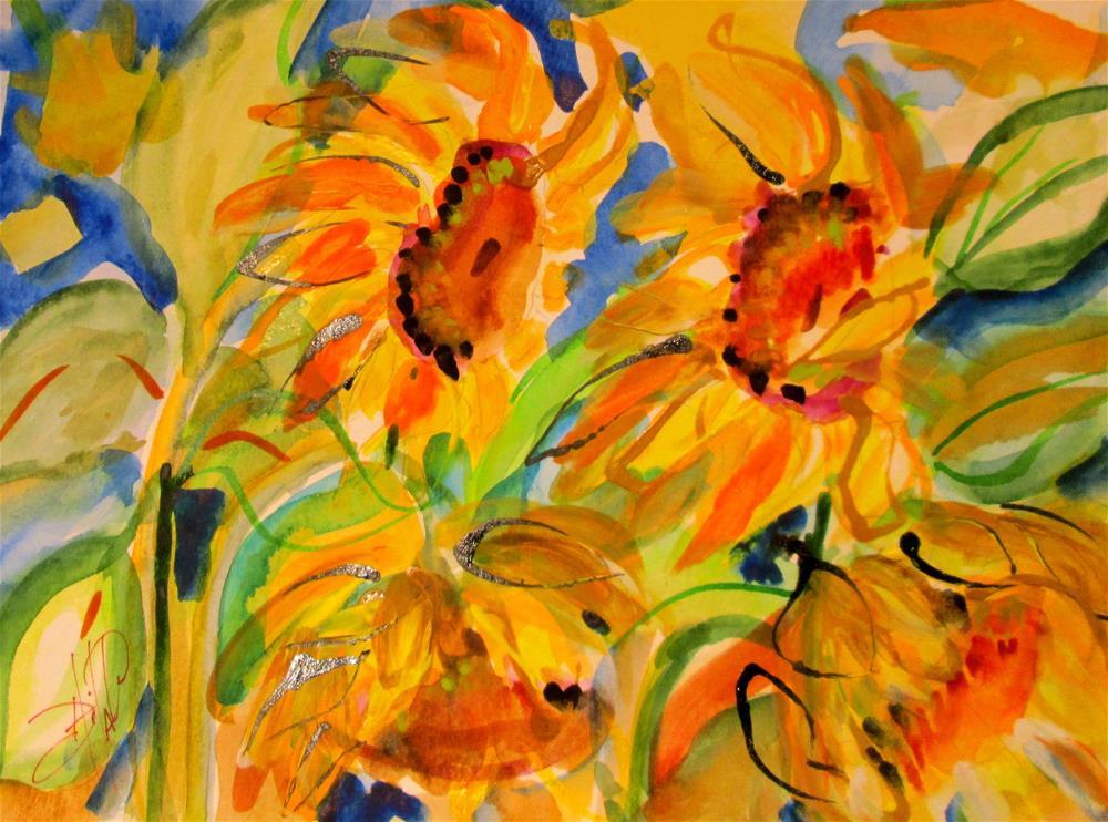 """Sunflower Field"" original fine art by Delilah Smith"