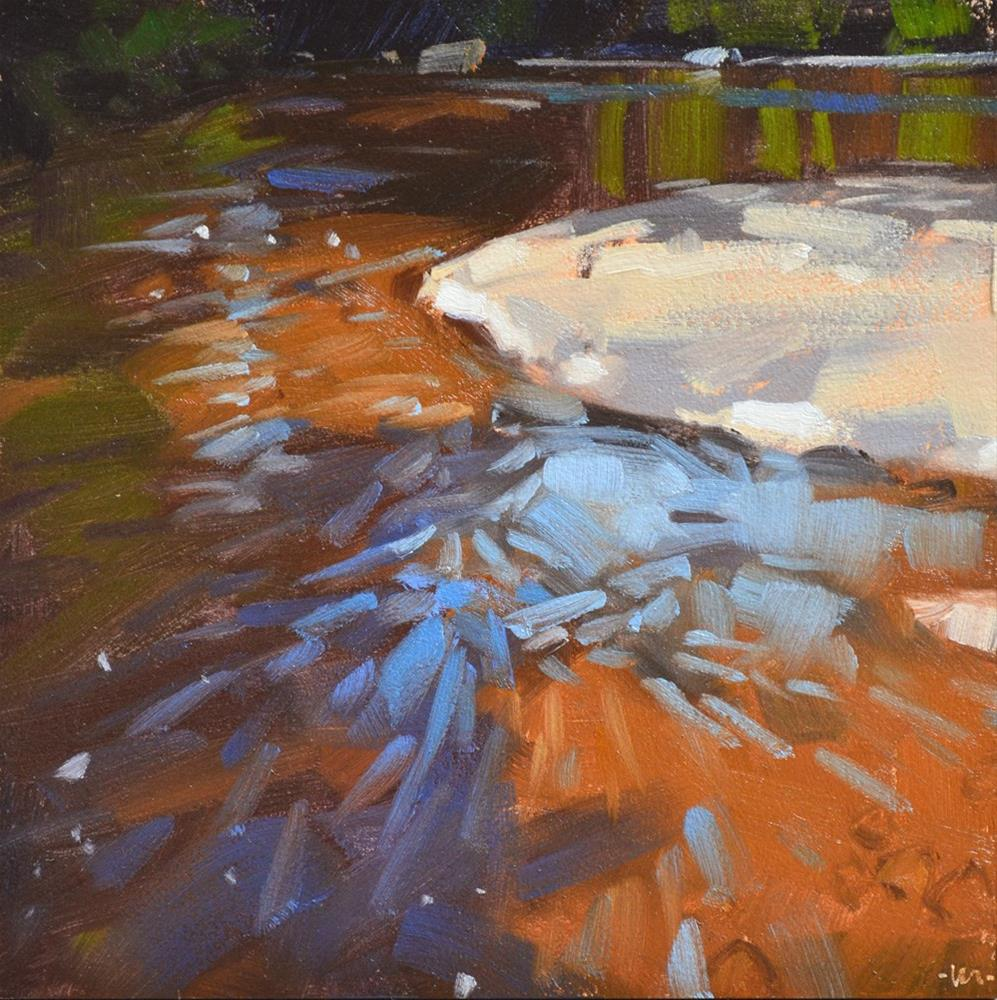 """Sky in the Water"" original fine art by Carol Marine"