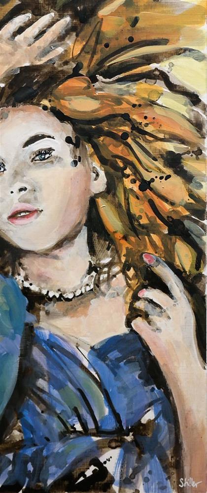 """2670 Melting Girl"" original fine art by Dietmar Stiller"