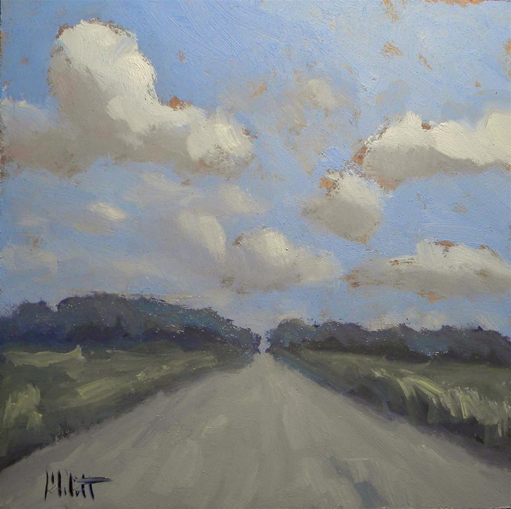 """Cruising Clouds and Country Roads Daily Oil Painting Heidi Malott"" original fine art by Heidi Malott"