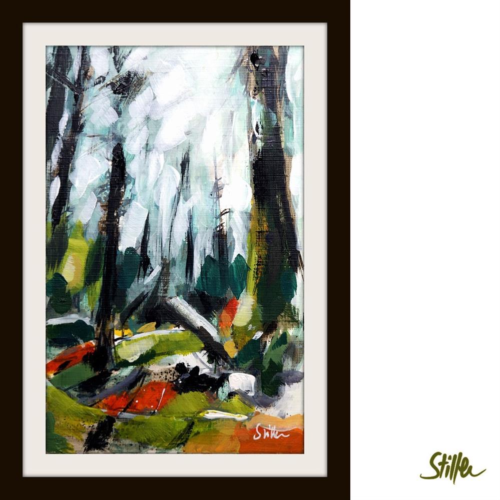 """3363 Woodland Miniature VIII"" original fine art by Dietmar Stiller"