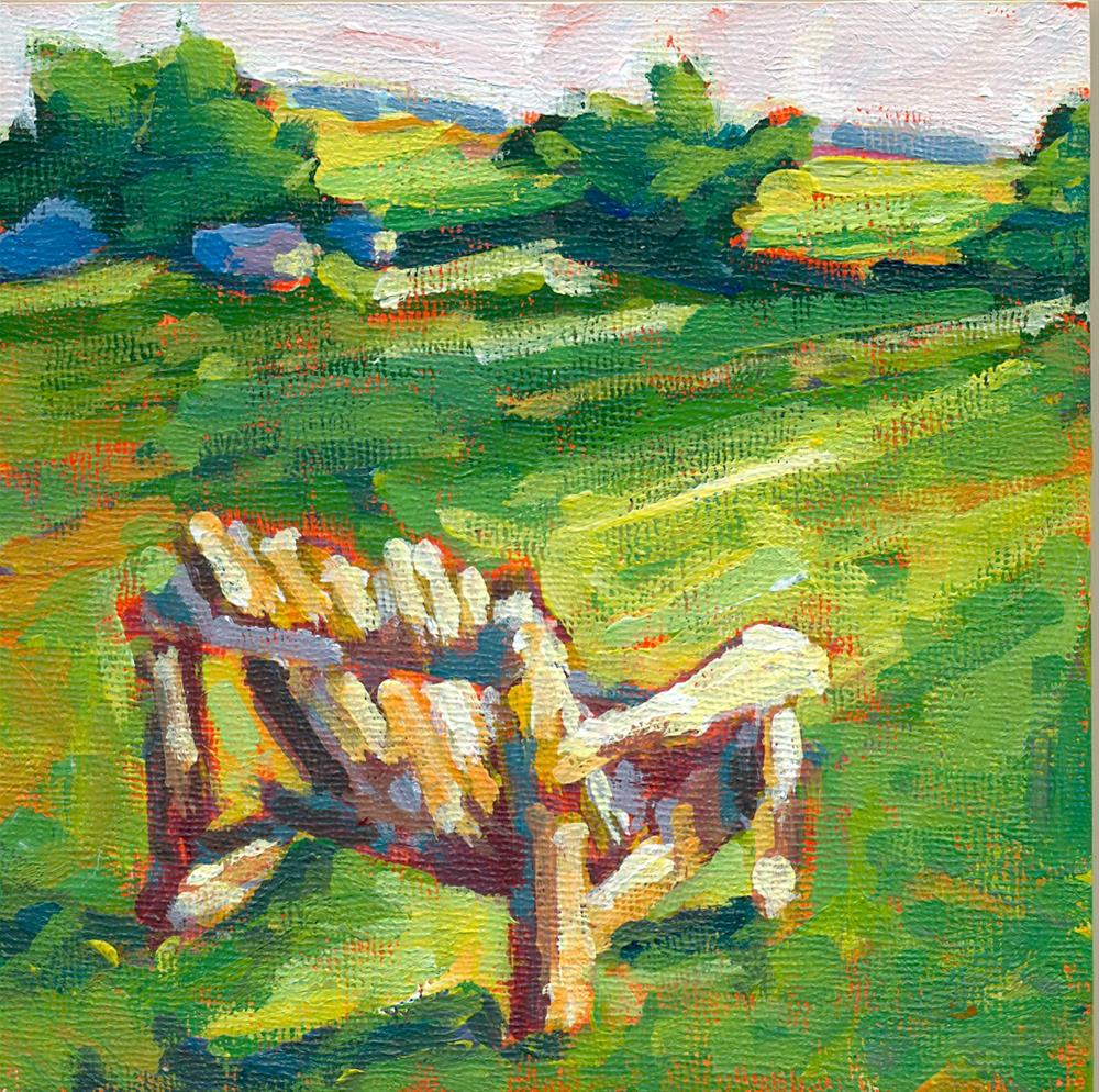 """""""come sit with me"""" original fine art by Shelley Garries"""