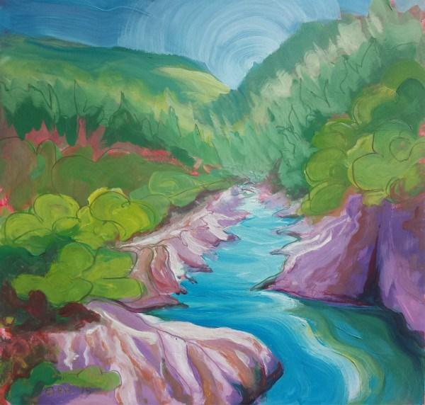 """""""American River 1"""" original fine art by Pam Van Londen"""