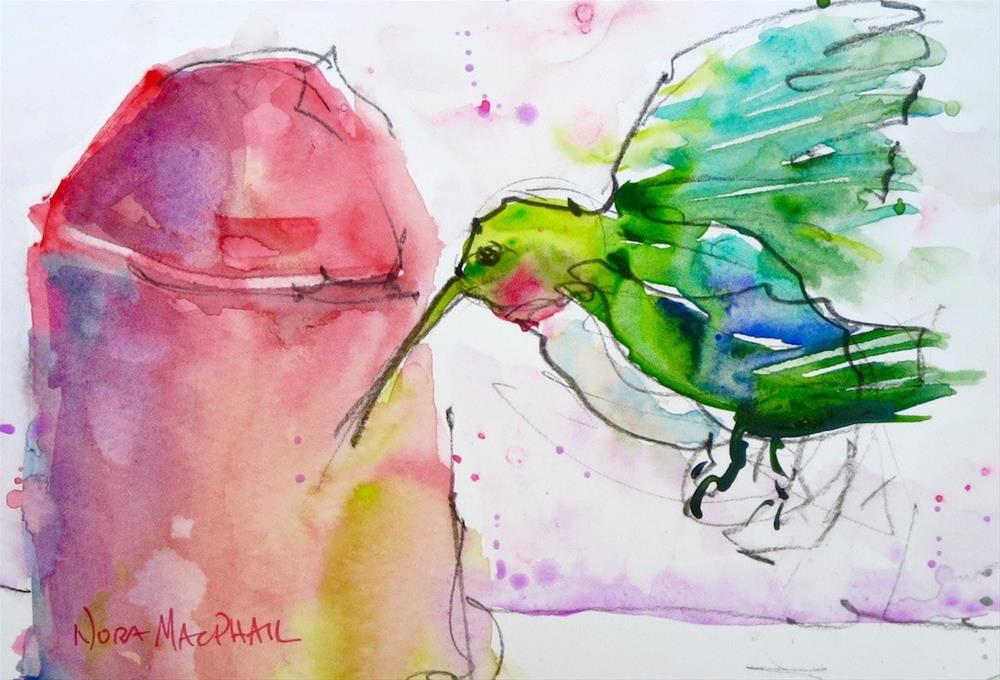 """hummin' along singin' a song"" original fine art by Nora MacPhail"