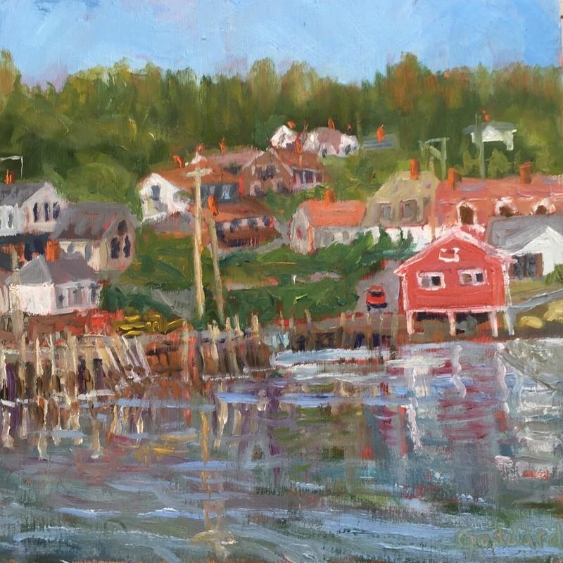 """Working Harbor"" original fine art by Shari Goddard Shambaugh"