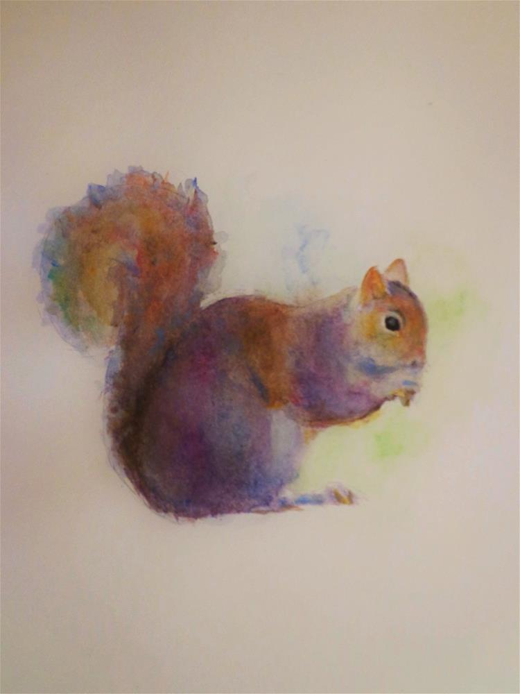"""Squirrel"" original fine art by Maria Z."