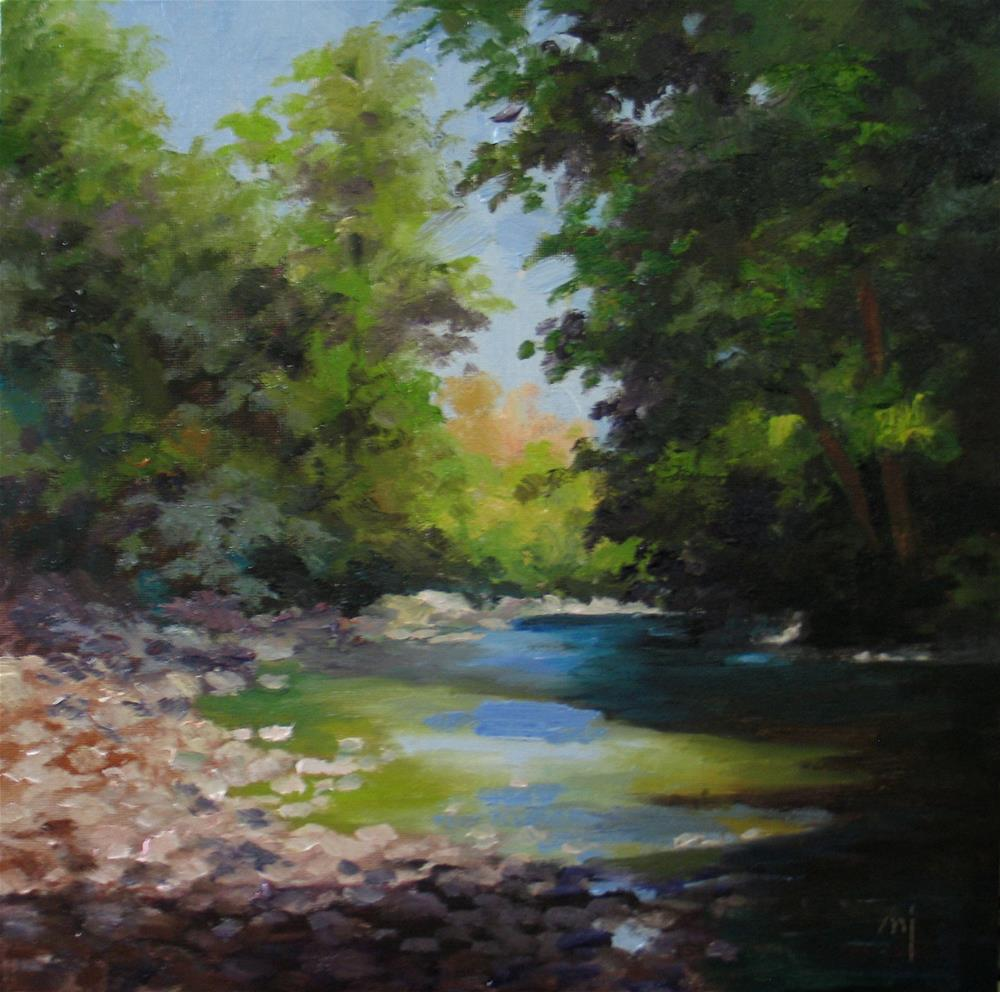 """Summer Creek"" original fine art by Nel Jansen"