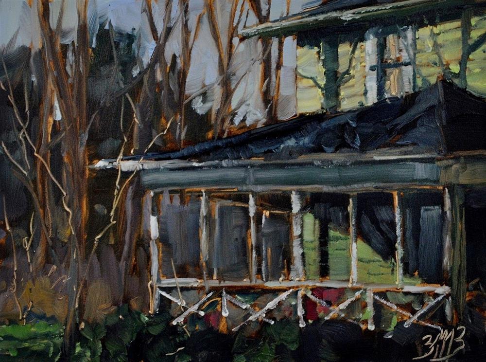 """Lake House"" original fine art by Brienne M Brown"