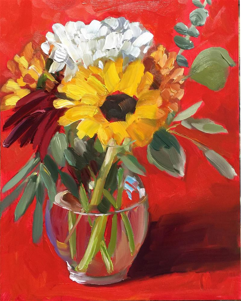 """""""It's All About the Red"""" original fine art by Martha Lever"""
