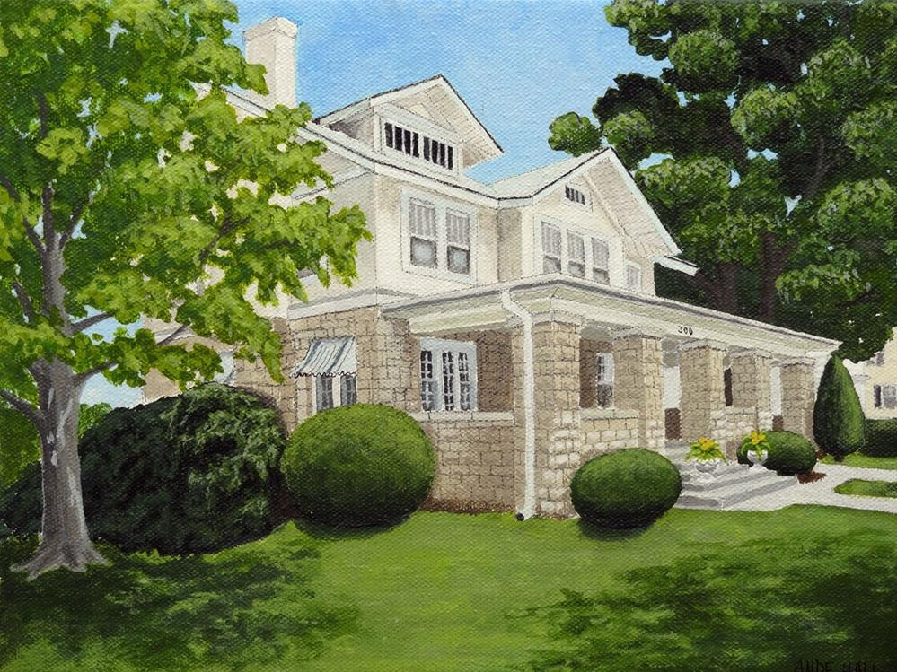 """""""Our House 4"""" original fine art by Ande Hall"""