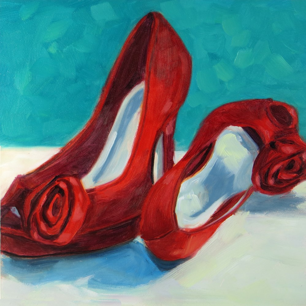 """Red Shoes"" original fine art by Rhett Regina Owings"