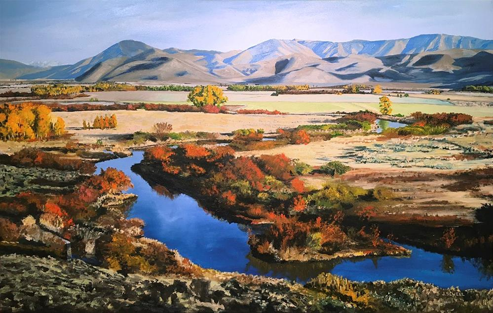 """""""Silvercreek October ~ Painting by Josh Sewell"""" original fine art by Andy Sewell"""