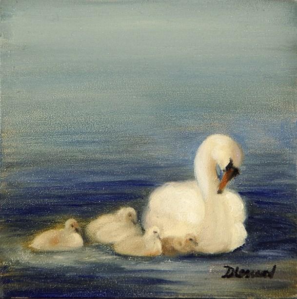 """Swanlings #1412"" original fine art by Dee Lessard"