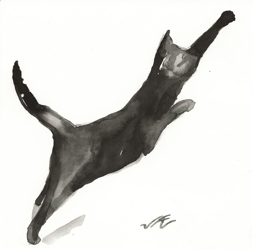 """Daily Cat 67"" original fine art by Jean Krueger"
