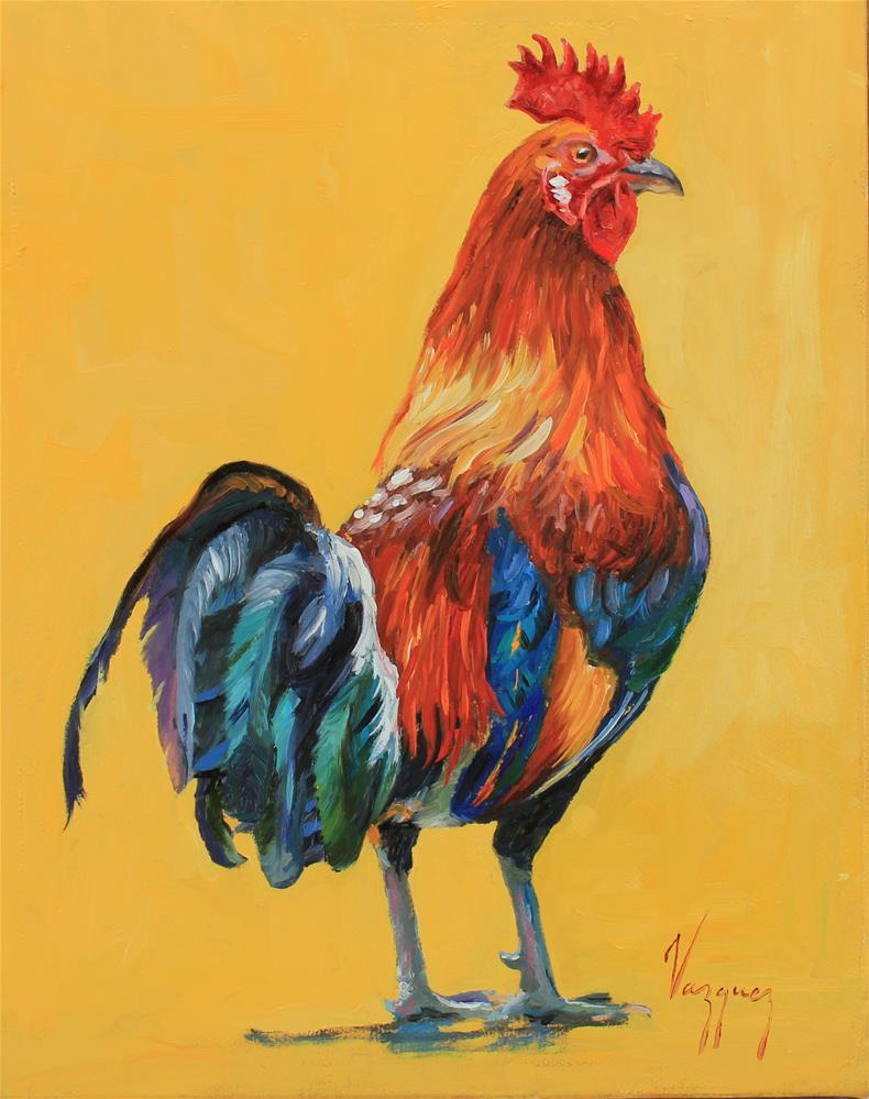 """Señor Rooster aka Mr. Gallo"" original fine art by Marco Vazquez"