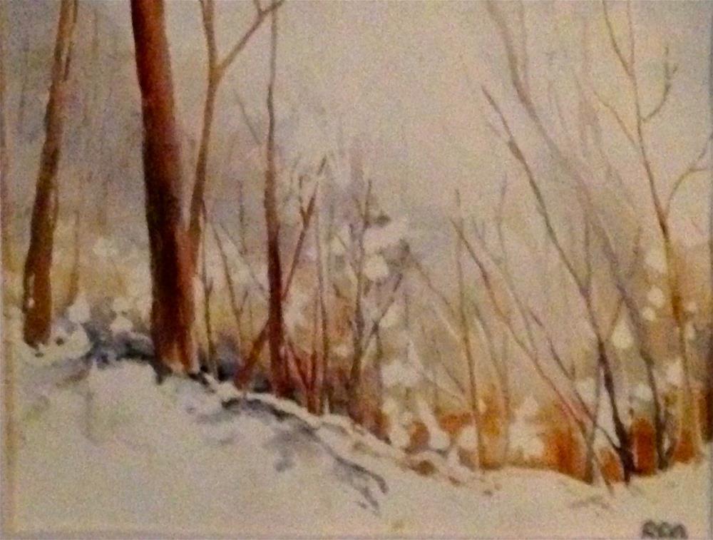 """""""back yard early fall"""" original fine art by Betty Argiros"""
