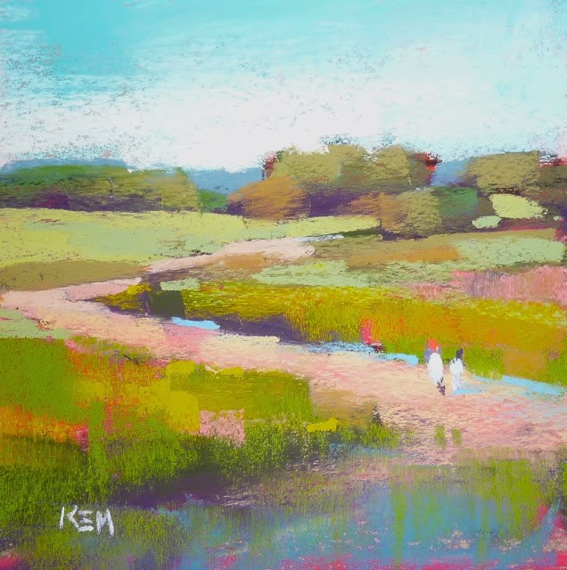 """New You Tube Video...Do Your Pastels Whisper or Shout?"" original fine art by Karen Margulis"