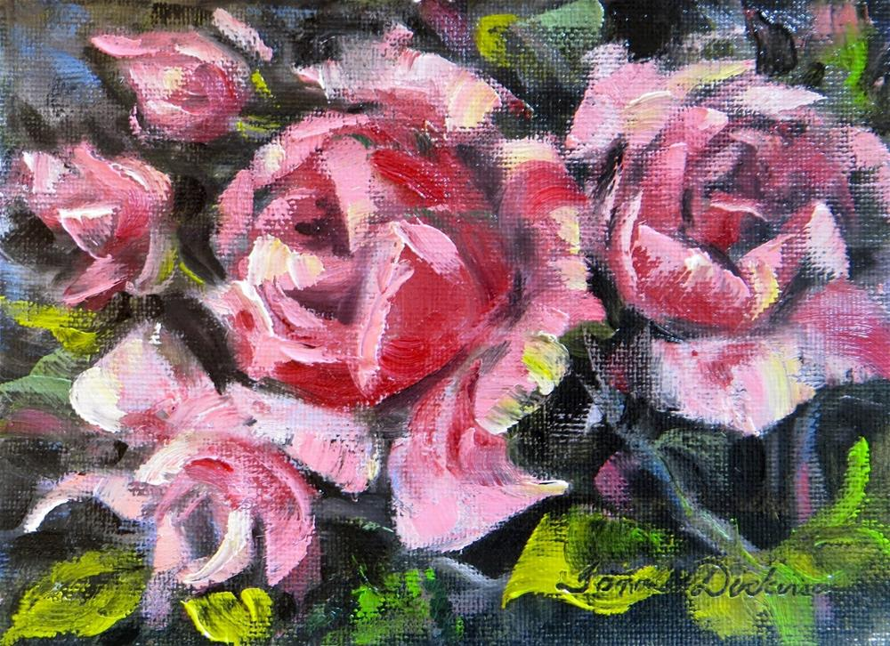 """Roses in Pink"" original fine art by Tammie Dickerson"