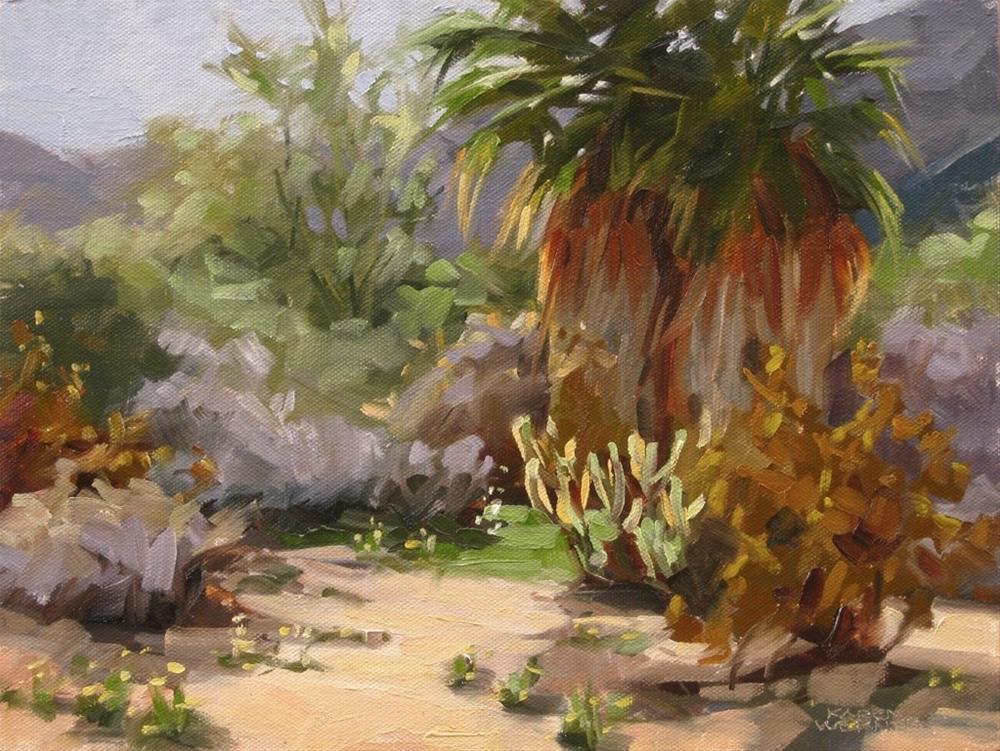 """A Pair of Palms"" original fine art by Karen Werner"